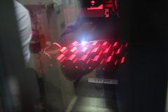 Laser Machine Imprinting Die Serial Numbers at Philadelphia Mint