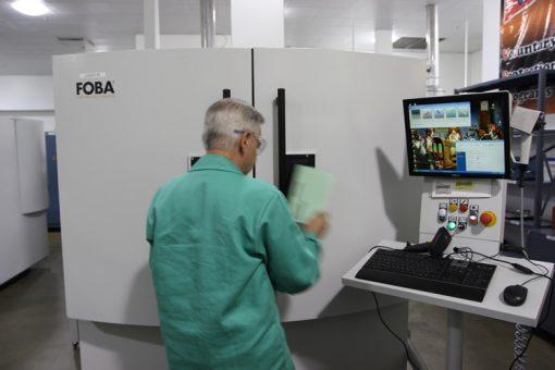 Laser Machine at Philadelphia Mint to Imprint Die Serial Number