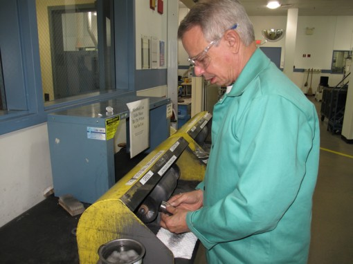 Philadelphia Mint Buffer-Polisher Tom Larizzio, Circulated Die Finish