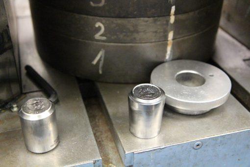 Philadelphia Mint Hubbing Press - Positive Hub and Negative Die
