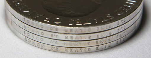 Photo of Edge Letterings on America the Beautiful Five Ounce Silver Coins