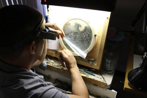 US Mint artist Michael Gaudioso sculpting