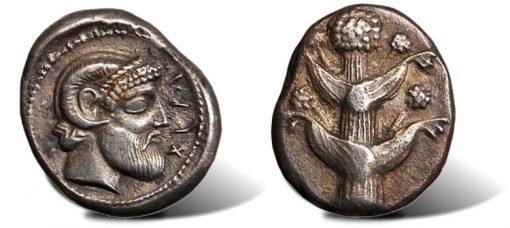 Zeus Ammon Cyrene Tetradrachm