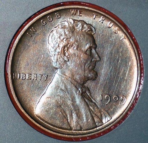 1909 VDB Lincoln Cent on NASA's Mars Rover Curiosity in August 2011
