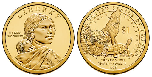 2012 Native American $1 Dollar Coin