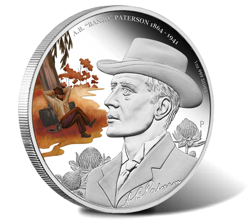 2013 A.B. Banjo Patterson 150th Anniversary 1 Ounce Silver Proof Coin