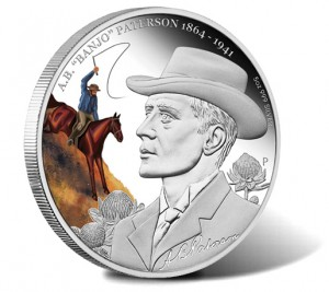 2013 A.B. Banjo Patterson 150th Anniversary 5 Ounce Silver Proof Coin