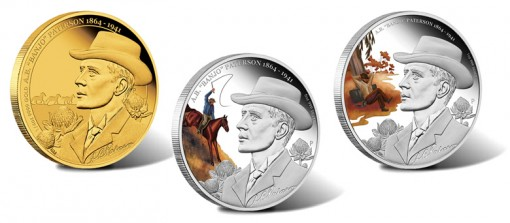 2013 A.B. Banjo Patterson 150th Anniversary Gold and Silver Coins