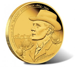 2013 A.B. Banjo Patterson 150th Anniversary One-Fourth Ounce Gold Proof Coin