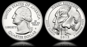 2013 Mt. Rushmore Quarter