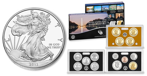 2013-W Proof American Silver Eagle and 2013 Proof Set