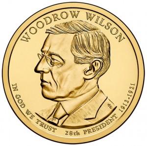 2013 Woodrow Wilson Presidential $1 Coin - Obverse