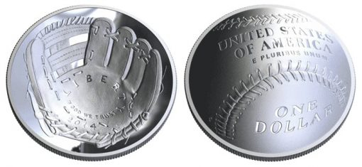 2014 $1 National Baseball Hall of Fame Silver Commemorative Coin