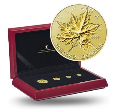 2014 Maple Leaf Gold Fractional Set