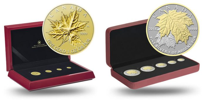 2014 Maple Leaf Gold and Silver Fractional Sets