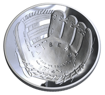 2014 National Baseball Hall of Fame Commemorative Coin - Obverse Rendering