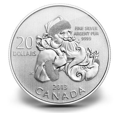 Canadian 2013 $20 Santa Silver Coin