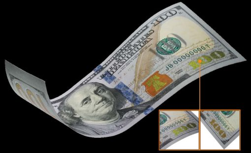 Color-Shifting Numerical 100 on New $100 Bills