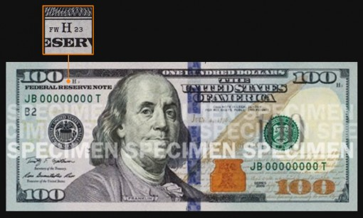 Fort Worth Designation on $100 Federal Reserve Note
