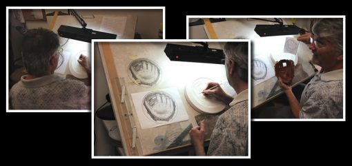 Photos of Don Everhart Sculpting Baseball Glove Design
