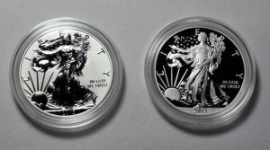 Reverse Proof and Enhanced Uncirculated Coins in 2013 West Point Silver Eagle Set