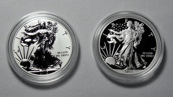 2013 W Reverse Proof Silver Eagle With Orig Packaging