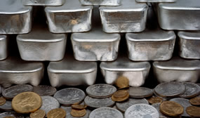 Silver Bullion Bars and Coins
