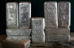 Stacked Silver Bars