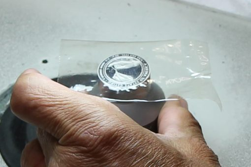 Tape Placed on Proof Die for Polishing