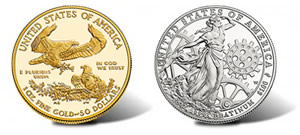 US Mint American Eagle Gold and Platinum Coin