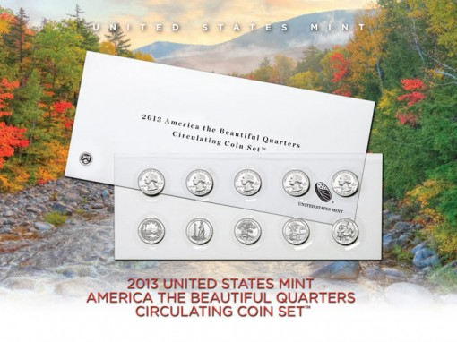 2013 America the Beautiful Quarters Circulating Set