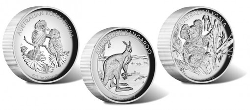 2013 Australian High Relief Silver Proof Three-Coin Collection