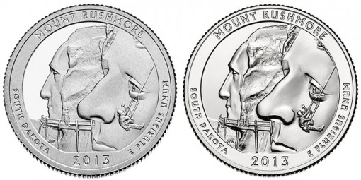 2013 Proof and Uncirculated Mount Rushmore National Memorial Quarters