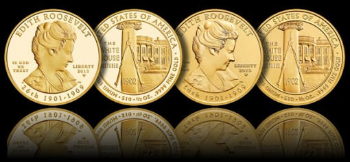 2013-W $10 Edith Roosevelt First Spouse Gold Coins