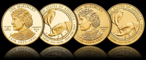 2013-W $10 Ida McKinley First Spouse Gold Coins