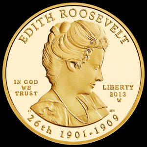 2013-W $10 Proof Edith Roosevelt First Spouse Gold Coin - Obverse