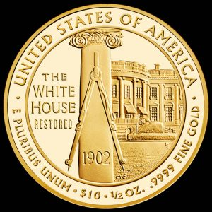 2013-W $10 Proof Edith Roosevelt First Spouse Gold Coin - Reverse