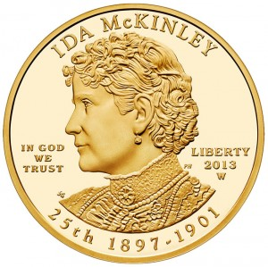 2013-W $10 Proof Ida McKinley First Spouse Gold Coin - Obverse