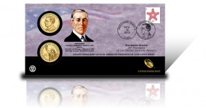 2013 Woodrow Wilson Presidential $1 Coin Cover