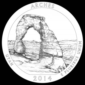 2014 Arches National Park Quarter and Coin Design