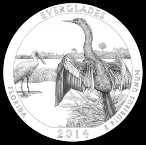 2014 Everglades National Park Quarter and Coin Design
