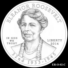 2014 First Spouse Gold Coin Design Candidate ER-O-02-C