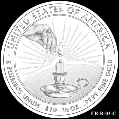 2014 First Spouse Gold Coin Design Candidate ER-R-03-C