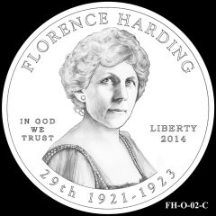 2014 First Spouse Gold Coin Design Candidate FH-O-02-C