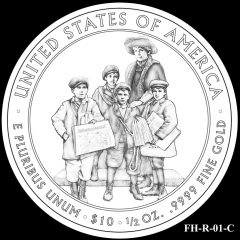 2014 First Spouse Gold Coin Design Candidate FH-R-01-C