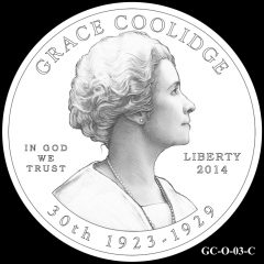 2014 First Spouse Gold Coin Design Candidate GC-O-03-C