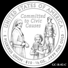2014 First Spouse Gold Coin Design Candidate GC-R-02-C