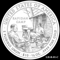 2014 First Spouse Gold Coin Design Candidate LH-R-01-C