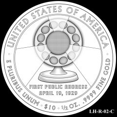 2014 First Spouse Gold Coin Design Candidate LH-R-02-C