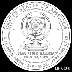2014 First Spouse Gold Coin Design Candidate LH-R-03-C